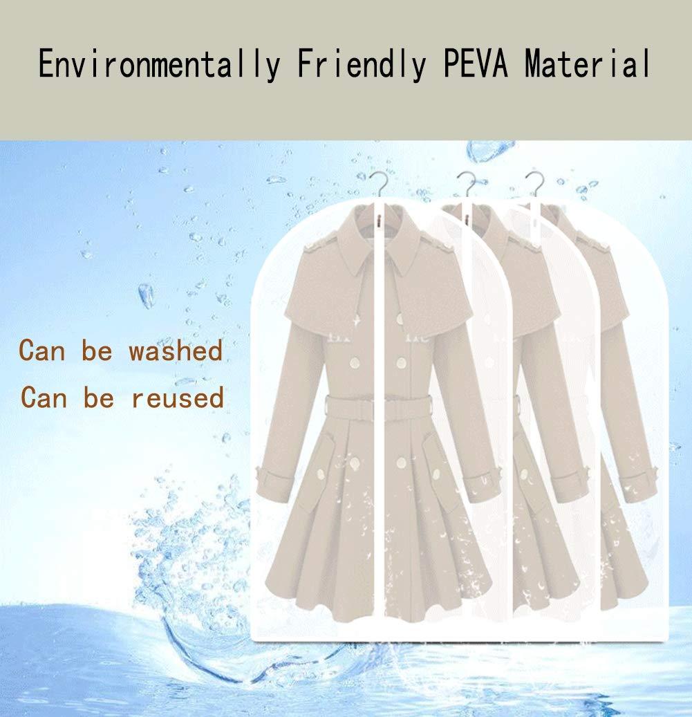 Transparent Faltbar Anti-Mottenschutz leicht Tanzkost/üme Waschbar M/äntel,60X80cm//23.62X31.49in f/ür langes Kleid XMFZD 10 Pcs Kleidersack f/ür die Aufbewahrung Kleider