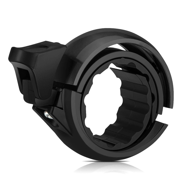 Terresa Bike Bell Horn Ring - Mini Invisible Q Design Cycling Handlebar Accessories by Aluminum Alloy Crisp Loud Bicycle Bells