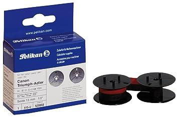 Pelikan 51S+U - Cinta para impresora, color negro y rojo: Amazon.es: Oficina y papelería