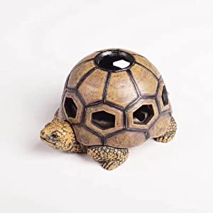 Greek Art Garden Decoration Tortoise Resin Key Hider Diversion Safe Key Outside Hider Hide-A-Key Holder Safely Hiding Your Spare Keys for Outdoor Garden or Yard, Geocaching
