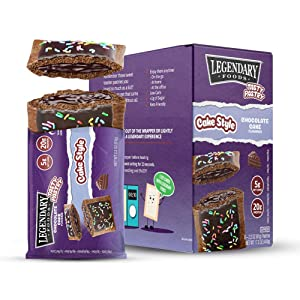 Legendary Foods New Cake Style Tasty Pastry | Low Carb | High Protein | Keto Friendly | No Sugar Added | Protein Snacks | On-The-Go Breakfast | Keto Food - Chocolate Cake (8pk)
