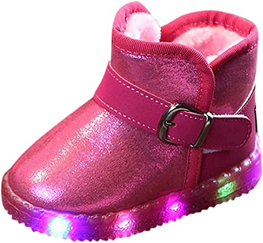 Winter Kids Baby Girl Boots Shoes Toddler Infant Plush Soft Sole Snow Booties UK
