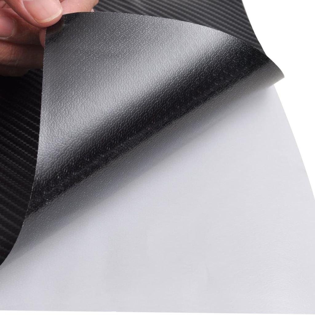 vidaXL Film Fibre de Carbone 4D Vinyl Noir 152x200cm Voiture Fen/être dAuto