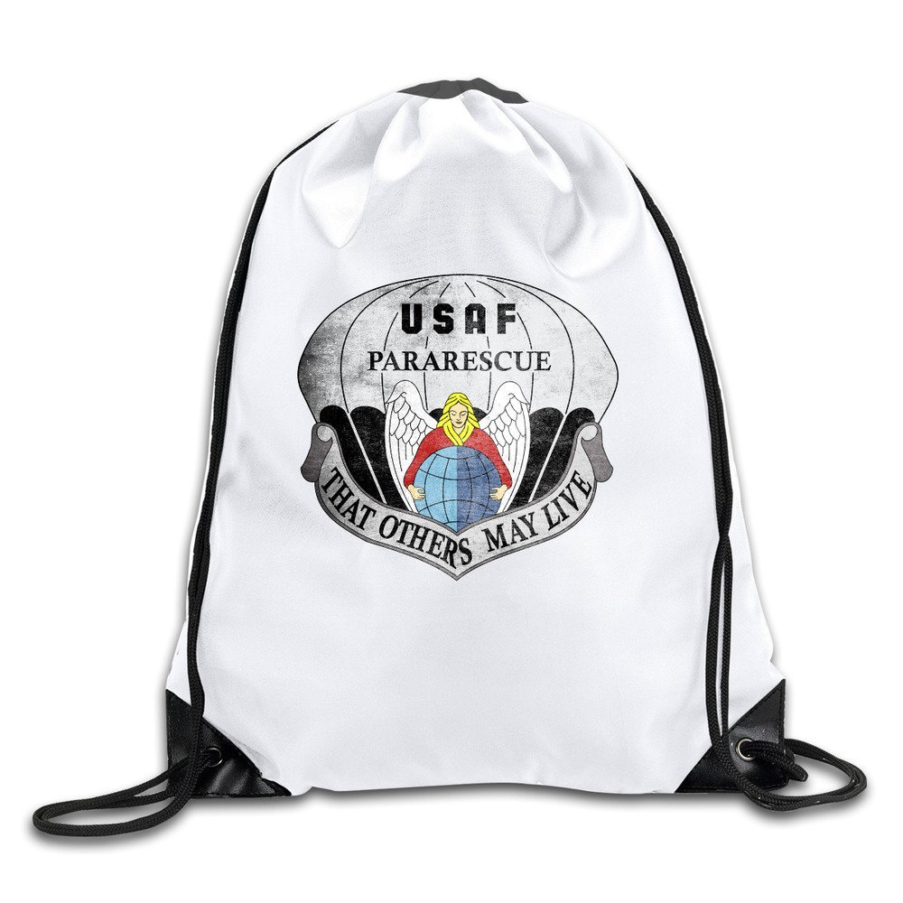BOoottty United States Air Force Pararescue Emblem Drawstring Backpack Bag