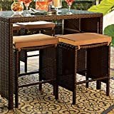 Brylanehome Set Of 2 Southport Stools (Taupe,0)
