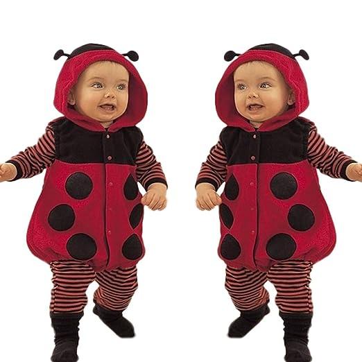 bc7adb7638b Amazon.com  Sikye Baby Romper Cotton Blend and Fleece Toddler Boy Girl  Cartoon Beetle Cosplay Jumpsuit Fancy Dress Up  Clothing