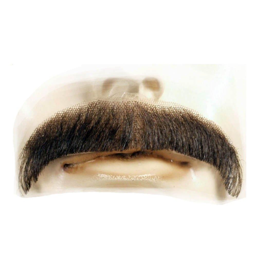 Brown Sonny Bono Villain Human Hair Mustache