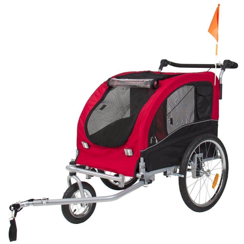Angelwing Trailer Dog Pet Bike Bicycle Stroller Carrier Suspension Jogging Houndabout 2 IN 1