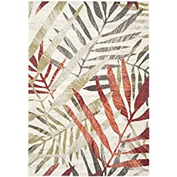 Safavieh Porcello Collection PRL4818C Ivory and Green Area Rug (2\'7\