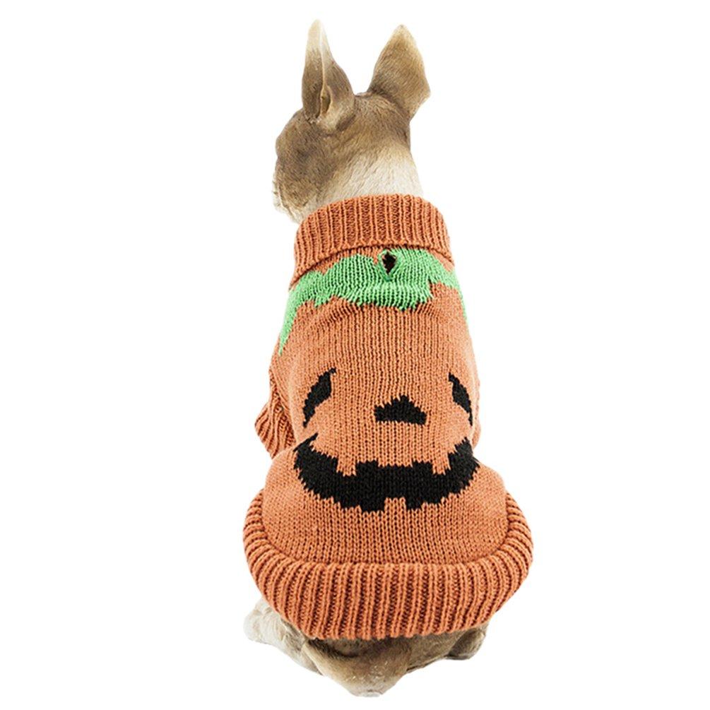 YiJee Cachorro Perro Pullover Navidad Suéter Mascota Cálido Ropa de Punto XS