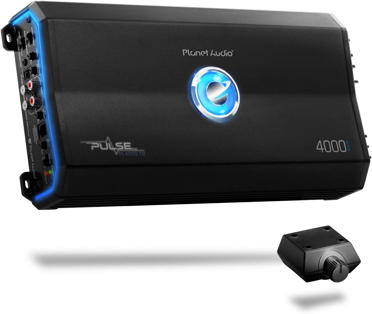 Planet Audio PL4000.1D Class D Car Amplifier - 4000 Watts, 1 Ohm Stable, Digital, Monoblock, Mosfet Power Supply, Great for Subwoofers