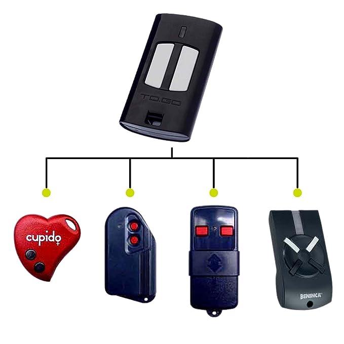24 opinioni per Telecomando ricambio per Benincà To.Go 2WV 433 Mhz 2 canali rolling code,