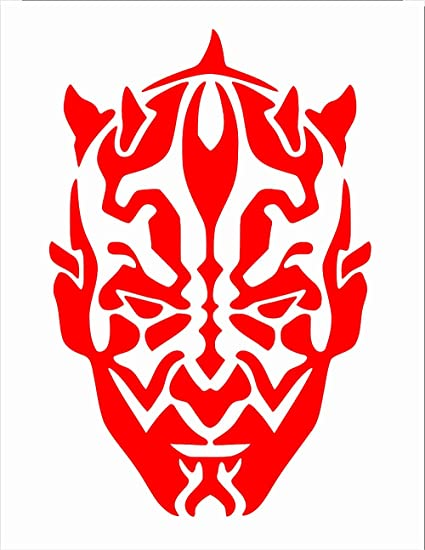 UR Impressions Red Darth Maul Face Decal Vinyl Sticker Graphics For Cars Trucks SUV Vans Walls