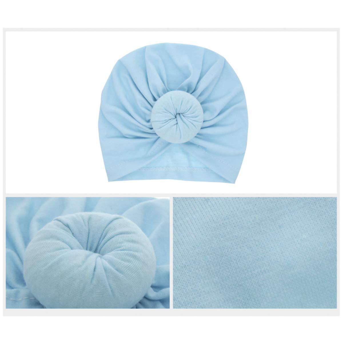 Rose red Miaoo Soft Cotton Baby Girls Hats Turbans Newborn Headwear Wrinkle Headwrap