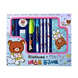 Rilakkuma Best Stationery Set School Supplies Desk Accessories Set (GKS14822) Random Design Style