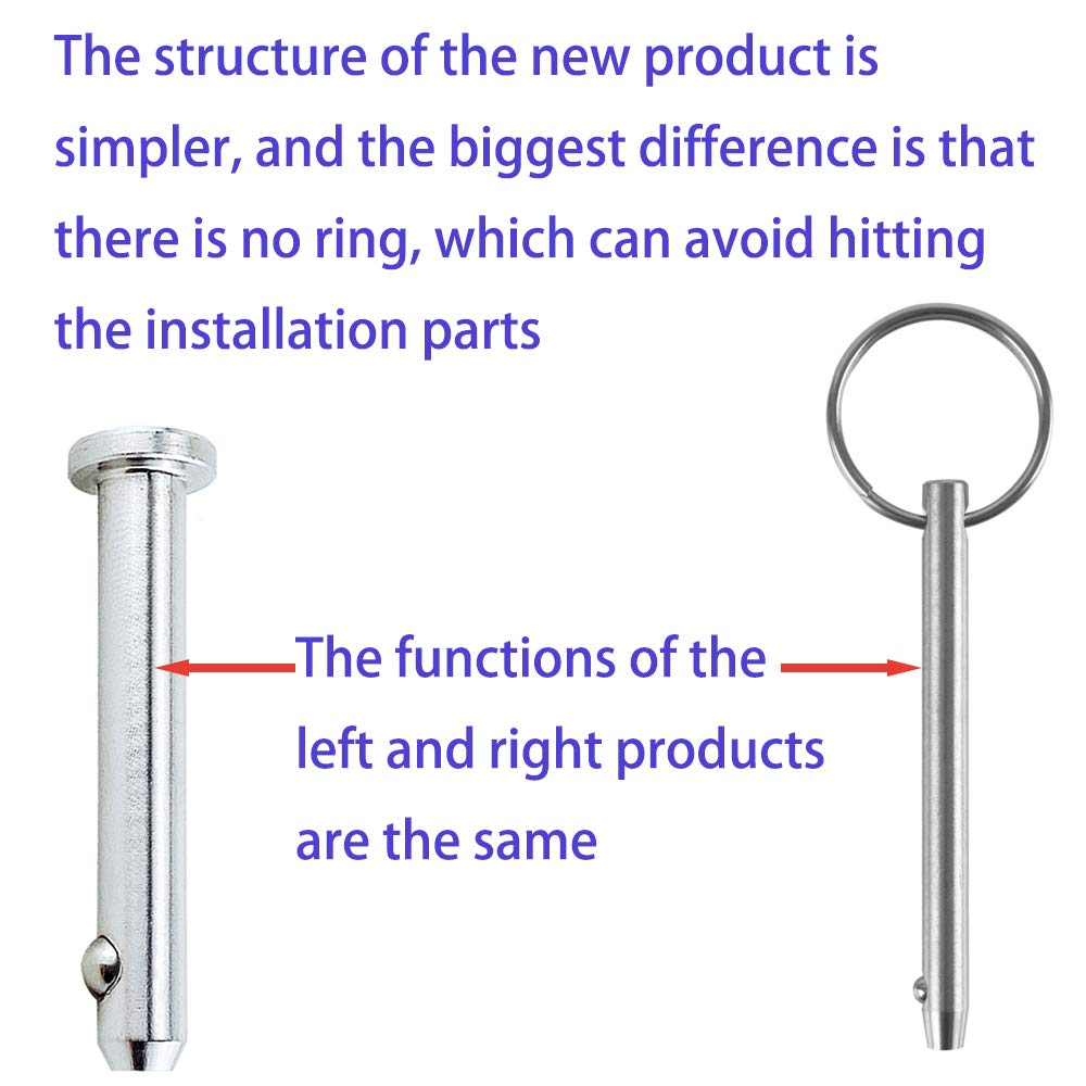 Diameter 0.197 Dowel Pin Flat w//Spring Loaded Ball Overall Length 1.1 Cylindrical Pin Positioning Pins Retainer Farm Lawn Garden 28mm 5mm 2 Pack Full 316 SS Quick Release Pin