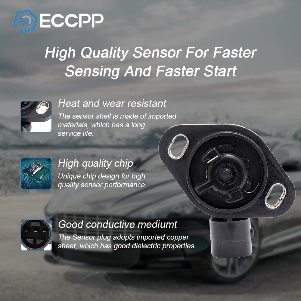 ECCPP Throttle Position Sensor Fit for Acura Integra//Honda Accord//Honda Civic//Honda Civic del Sol//Honda CR-V//Honda CRX//Honda Prelude 911-753 TPS Sensor