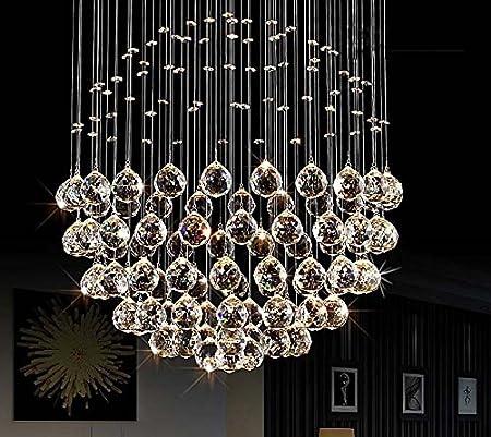 30 mm Nero//chiaro Ujoy 20pcs sfera di cristallo lampadario prismi ciondoli parti perline