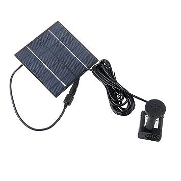 Power 1.4 W Bomba Solar, Hay Cuatro Boquillas Diferentes Kits Agua circulante alcanza 75cm Adecuado para estanques de jardín: Amazon.es: Jardín