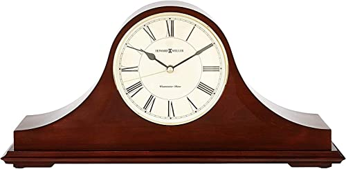 Howard Miller Christopher Mantel Clock 635-101 Windsor Cherry Wood with Quartz Single Chime Movement