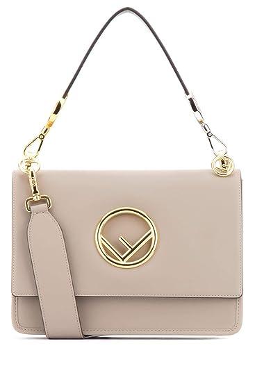 c4397d8121 Fendi Women's 8Bt2842ihf0e65 Grey/Pink Leather Shoulder Bag: Amazon ...