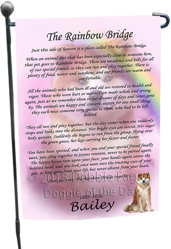 Doggie of the Day Rainbow Bridge Akita Dog Garden Flag GFLG52673