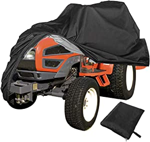 Refial Lawn Mower Cover, 210D Oxford Fabric, Waterproof, Sunscreen, Dustproof, Windbreak, Applicable to Lawn Mower, Tractor and ATV XL