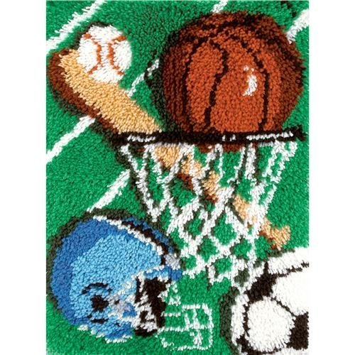 Caron Rug Kits - Caron Natura Latch-Hook Kit, Sports, 20