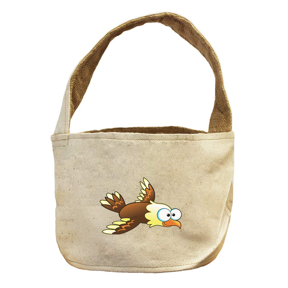 Style in Print Eagle Brown Animals Canvas and Burlap Storage Basket