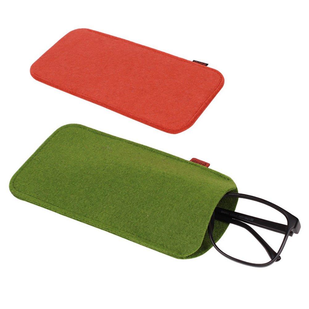 HINMAY Soft Felt Eyeglasses Sunglasses Reading Glasses Carry Case Pen Pouch Bag 3 Color dark gray