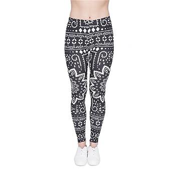 POAONOSS Pantalones de Yoga Mujer Legins Mandala Ombre de ...