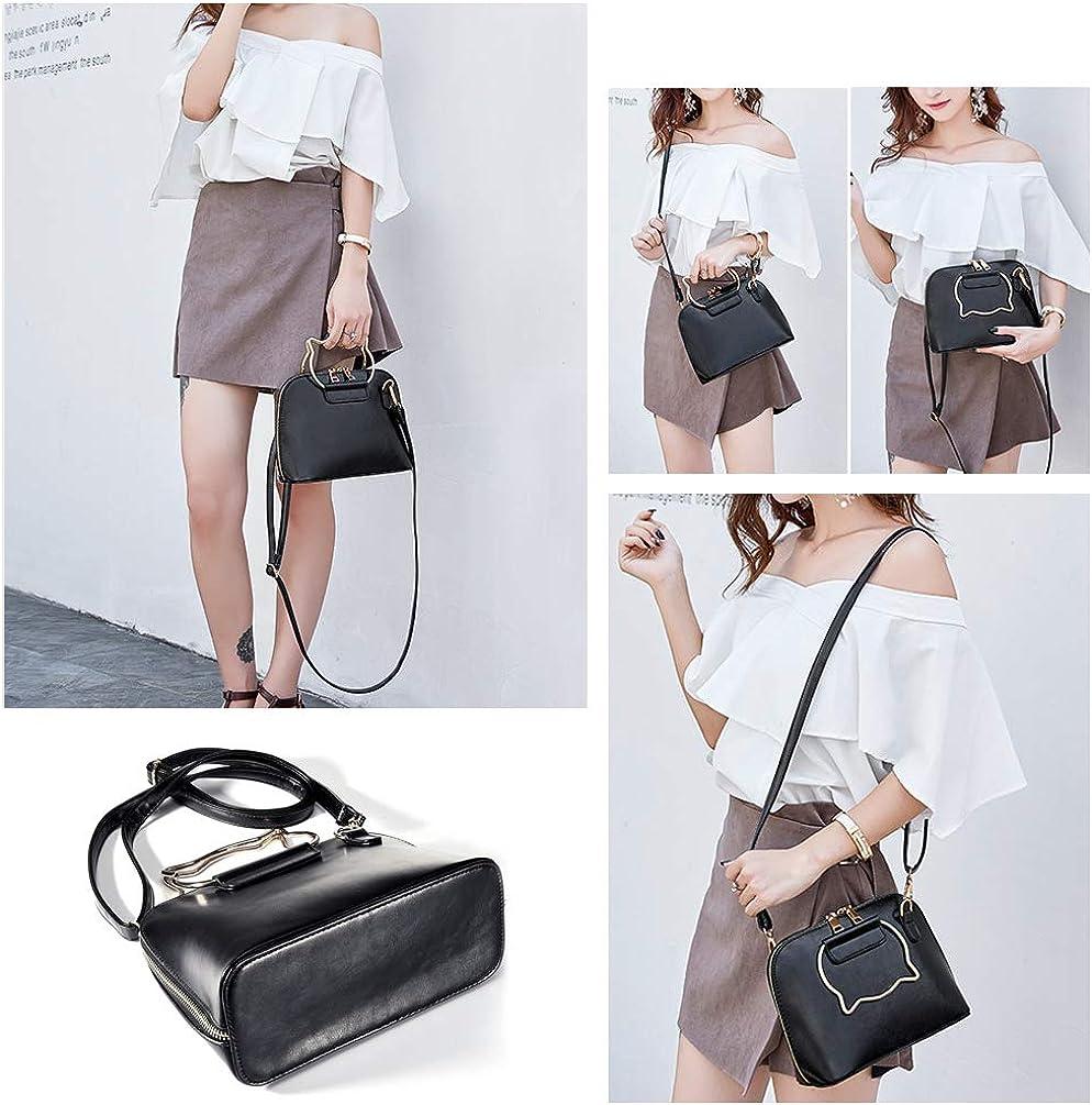 VBIGER Petit Sac Bandouli/ère Femme en PU Cuir Sacs /à Main Femmes Mini Sacoche Fille Pochette Mode Casual Noir/…