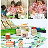 Art with smile Wooden Stamp Set for Kids with