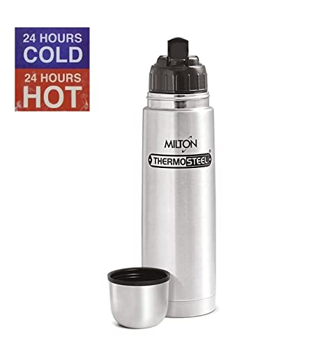 340f7cc186e Image Unavailable. Image not available for. Colour  STH Milton Thermosteel  Flip Lid 24 Hours Hot and Cold Flask Bottle ...