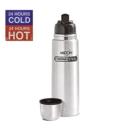 STH Milton Thermosteel Flip Lid 24 Hours Hot and Cold Flask Bottle, 1000ml(Silver)