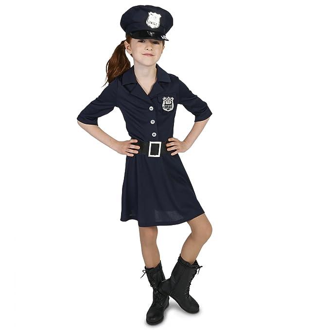 Amazon.com: Costume disfraz de policía para niñ ...