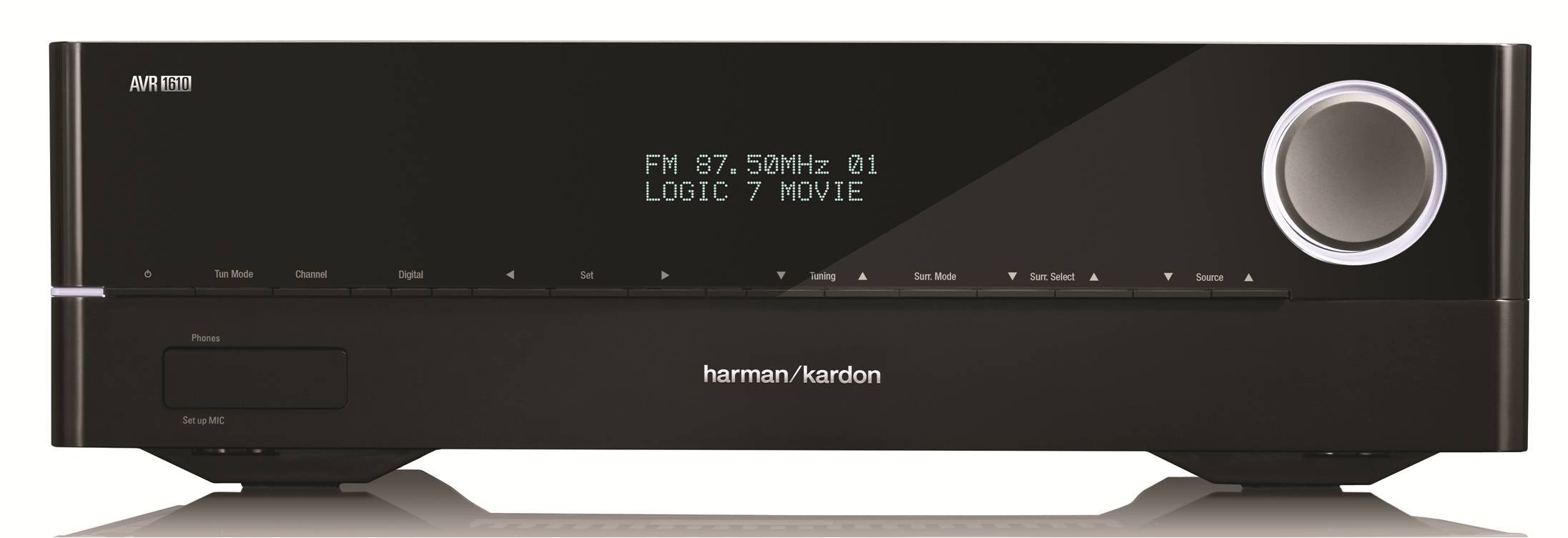 Harman Kardon AVR 1610 5.1-Channel 85-Watt Roku Ready Networked Audio/Video Receiver by Harman Kardon