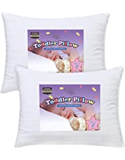 "Utopia Bedding 2 Pack Baby Pillow - 13"" x 18"" Toddler Pillow with 100% Cotton Cover"