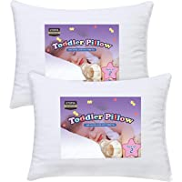 """Utopia Bedding 2 Pack Baby Pillow - 13"""" x 18"""" Toddler Pillow with 100% Cotton Cover"""