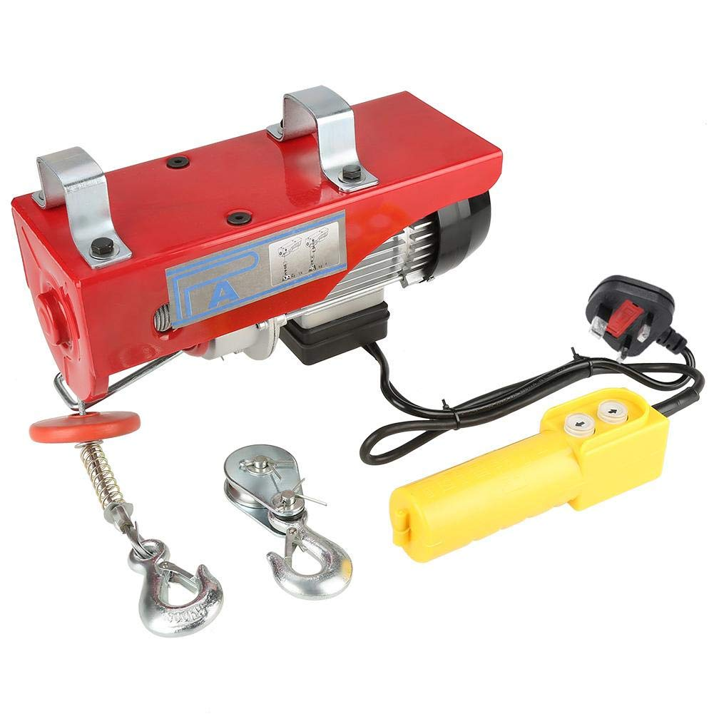 100//200kg Electric Cable Hoist Lifting Wire Hanging Crane UK Plug 220V 450W