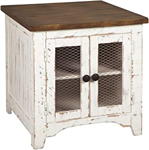 Signature Design by Ashley T459-3 Wystfield End Table, White/Brown