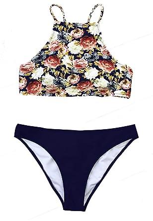 efb82ff0fc9 Amazon.com: CUPSHE Women's Breezy Day Tie-Dyed Tie Back Bikini Set ...