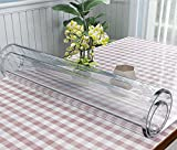 #4: VALLEY TREE Clear Table Cover Protector 1.5mm Thick PVC Soft Glass Transparent Dining Table Pad for Wooden, Glass, Marble Table/Desk | Rectangular(42 x 84 inches)