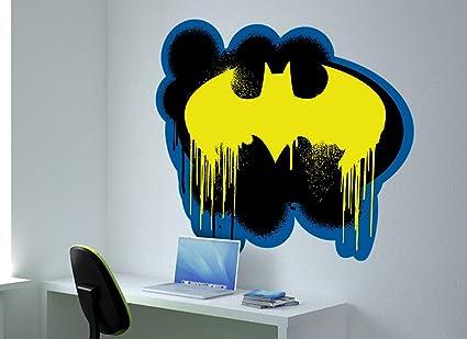 Amazon Batman Bat Symbol Large Spray Paint Wall Decal Home