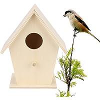 Yeefant 1Pcs Creative Wall Mounted Nest Bird House Wooden Outdoor Box,4.72x3.74 inch