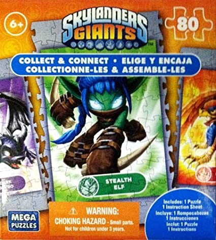 Skylanders Giants 80 piece Stealth Elf - Collect & Connect ...