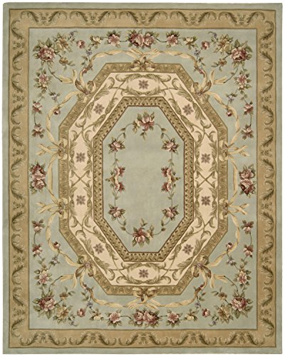 Nourison Versailles Palace (VP13) Aqua Rectangle Area Rug, 5-Feet 3-Inches by 8-Feet 3-Inches (5'3