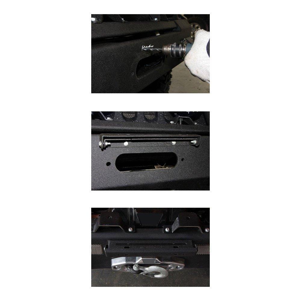 Black Hawse Fairlead Licence Plate Anzio Flip-Up Fairlead Mounted License Plate Holder Mount Bracket