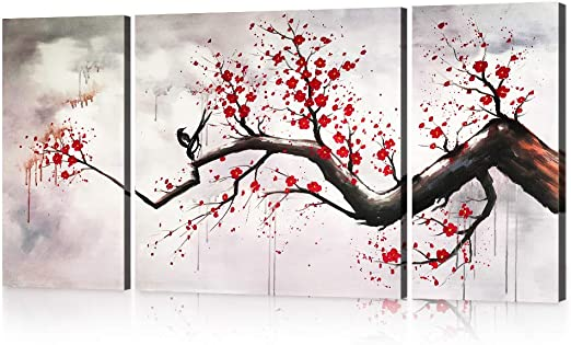 Cherry Blossom Chinese Style Wall Picture Prints Canvas Art Cheap