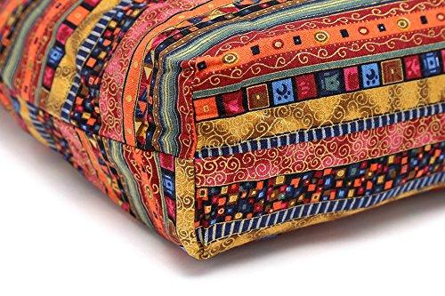 Purses Shoulder Shopping Large Slouch ezShe Bag Sling Crossbody Bag Boho Bohemian Roomy Red Cotton qxxFfaE